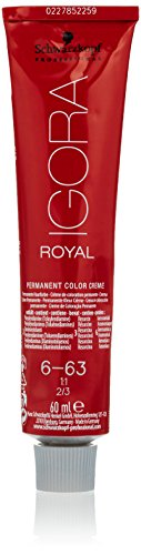 Schwarzkopf IGORA ROYAL 6-63 - Crema colorante permanente, color rubio oscuro marrón mate, 60 ml