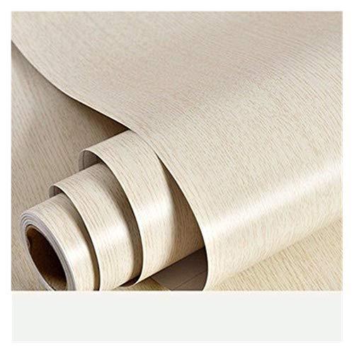 HYCSP Holzmaserung Tapete Vinyl Selbstklebendes Dekorfolie for Wohnzimmer Küchenschrank Möbel Wasserdicht Kontakt Papier (Color : White Oak Wallpaper, Size : 40cm x 3m)