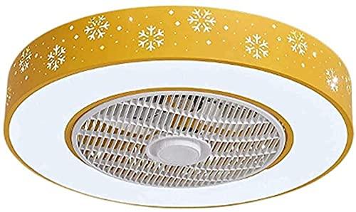 Ventiladores de techo con lámparas LED LED Moderna velocidad de viento regulable Luces de techo Dimmables Fans para sala de estar Dormitorio con control remoto Hojada Hidden Blade Fan Lighting