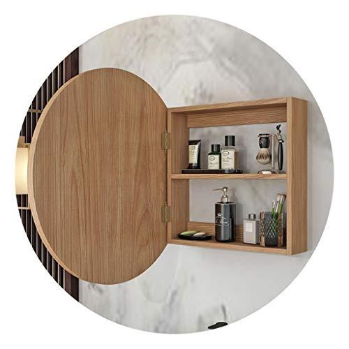 Armadietti a specchio Rotondo in Legno Salotto for La Casa Bagno Specchio da Parete Articoli da Toeletta Armadietto Regalo
