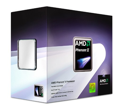 AMD Phenom II X4 Quad-core 945 3GHz 6MB L3 Caja - Procesador (AMD Phenom, 3 GHz, Socket AM3, 45 nm, 64 bits, 6 MB)