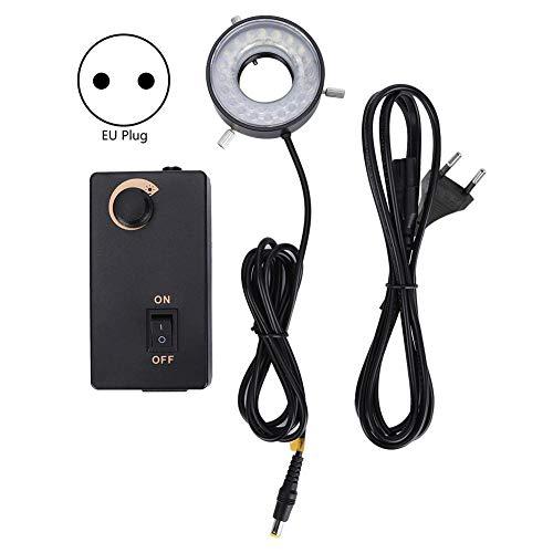 LED-Ringlicht für Mikroskope LED-Helligkeit Einstellbare Lichtquelle Ringlicht für optische Instrumente mit Videomikroskopen(EU Plug 100-240V)