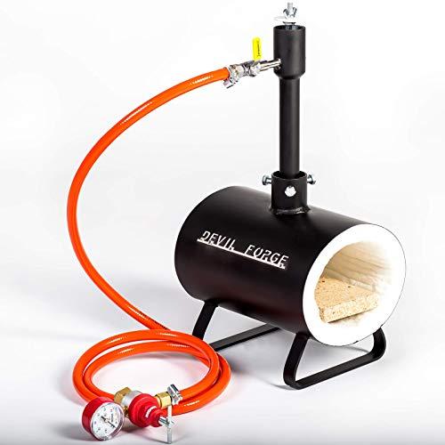 Forja de gas propano - DFSW | con 1 quemador DFP (80,000 BTU) | para herreros y fabricantes de cuchillos para el trabajo de forja