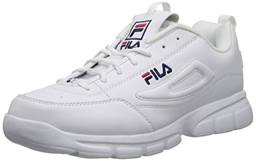 Fila Men's Disruptor SE Training Shoe, White/Fila Navy/Fila Red, 13 M US
