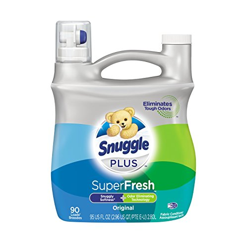 Snuggle Plus Super Fresh Liquid Fabric Softener with Odor Eliminating...