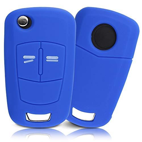 ASARAH Cover chiavi auto PREMIUM in silicone compatibile con Opel, Copertura protettiva per chiavi dell'auto, Copertina per tipo di chiave 2BKB - Mare blu