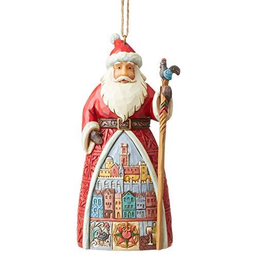 Enesco Jim Shore Heartwood Creek Santa's Around The World Portuguese Hanging Ornament, 4.72 Inch, Multicolor
