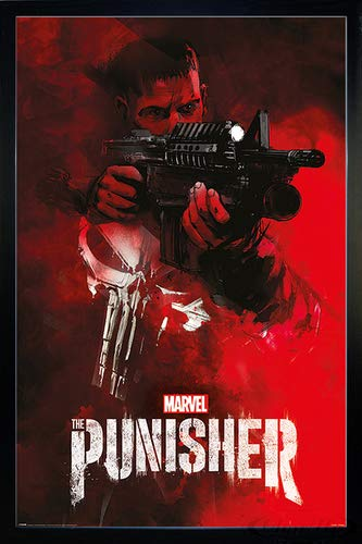 Close Up The Punisher Poster Aim (66x96,5 cm) gerahmt in: Rahmen schwarz