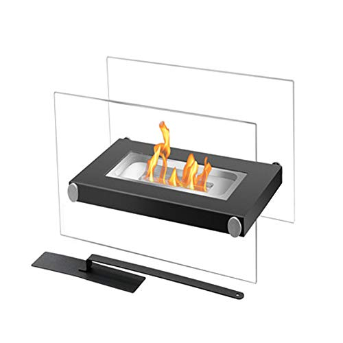 DKIEI Tabletop Fireplace Bio Ethanol Fireplace for Indoor & Outdoor Use