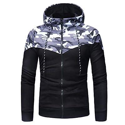 Hot Sale,WUAI Mens Hooded Sweatshirt Casual Long Sleeve Camouflage Printed Hoodies Pullover Tops Jacket Outwear