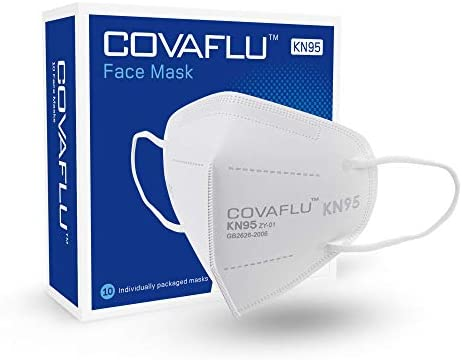 COVAFLU KN95 Face Mask Pack of 10 Fold Flat KN95 Face Masks Comfortable Fit product image