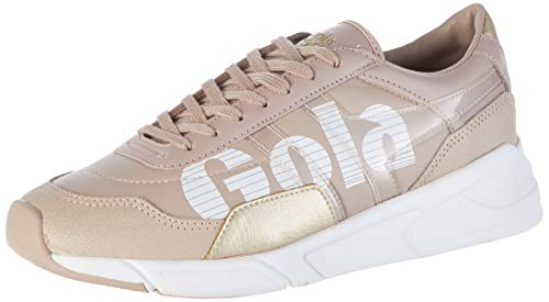 Gola Damen Eclipse Tribute Sneaker, Pink Blossom White Gold Kw, 41 EU