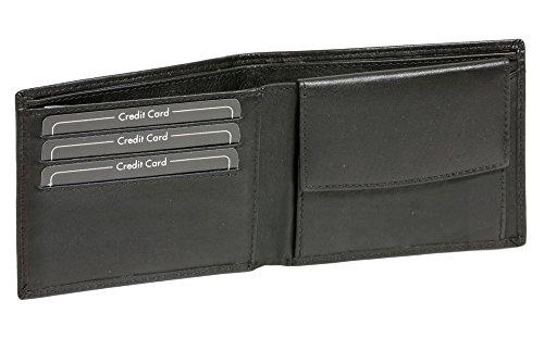 LEAS Scheintasche extra dünn Echt-Leder im Querformat, schwarz Standard-Collection