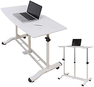 昇降パソコンデスク 昇降式デスク テーブル スタンディングデスク 昇降 キャスター付き 移動も楽々 ホワイト