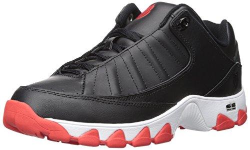 K-Swiss Men's ST529 Fashion Sneaker, Black/Fiery Red, 11.5 M US