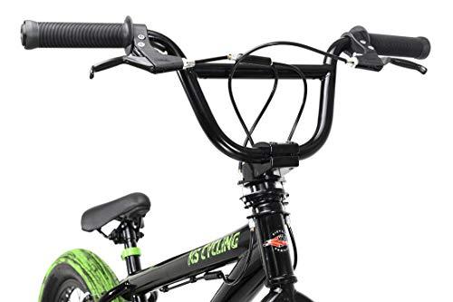 KS Cycling BMX Freestyle 20'' Fatt schwarz-grün - 5