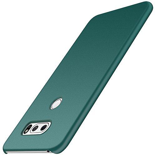 LG V30/LG V30 Plus/LG V30S ThinQ/LG V35/LG V35 ThinQ Hülle, Anccer [Serie Matte] Elastische Schockabsorption & Ultra Thin Design für LG V30/LG V30 Plus/LG V30S ThinQ/LG V35/LG V35 ThinQ (Kies Grün)