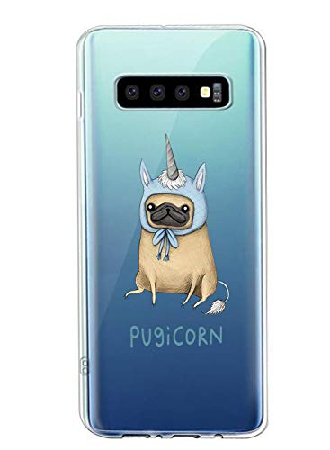 Oihxse Transparent Coque pour Samsung Galaxy J7 Prime/ON7 2016 Etui en Silicone Souple Gel TPU Protecteur Bumper Hybrid [Ultra Mince] [Antichoc] [Anti-Scratch] Chien Motif Design Housse (A5)