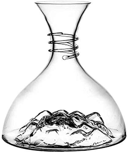 Aeroador de decantación hecha a mano / iceberg, vidrio de cristal sin plomo 100% a mano, elegante elegante, elegante vino tinto y conjunto de botellas, accesorios de vino artesanal, regalos para amigo