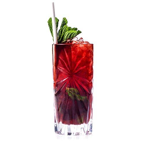 RCR Verres à Cocktail Hauts en Cristal Oasis 26277020006, 360 ML, Lot de 6, Effacer, 7,6 x 7,6 x 19 cm
