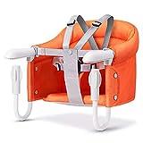 VICKI chairs Hochstuhl Baby Tischsitz, Fold-Flat Lager Tragbar Fütterungssitz Abnehmbar Sitzkissen Anhaken Booster Chair (Color : Orange)