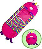 "LucaSng Nappers Happy Kids Sleeping Bag , 2 in 1 Cartoon Animals Foldable Pillow Sleeping Bag , Super Soft, Warm, All Season Sleeping Bag snoozzoo for Kids -57""x 20"" (RoseUnicorn)"