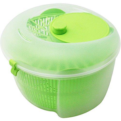 com-four Salatschleuder Salatschüssel aus Kunststoff ca. 24 x 15 cm