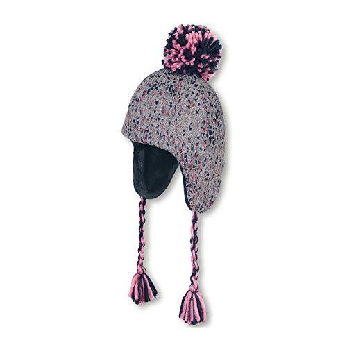 Sterntaler Inka-Mütze für Mädchen mit Bommel und passenden Zopfbändern, Alter: 2-4 Jahre, Größe: 53, Grau/Blau