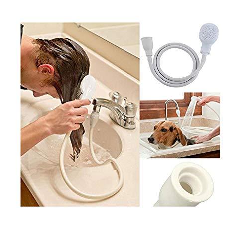 Brillo único grifo ducha spray manguera bañera fregadero Spray con cabeza lavadora interior PVC