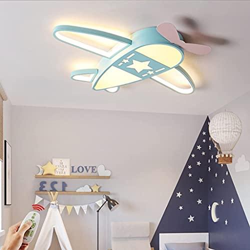 WSZYBAY Luz de techo LED para niños Diseño de avión creativo Moderno Control remoto regulable Lámpara de techo Boy Dormitorio Techo Luz de acrílico Sitio de niños Habitación Deco Lámpara Babil lámpara