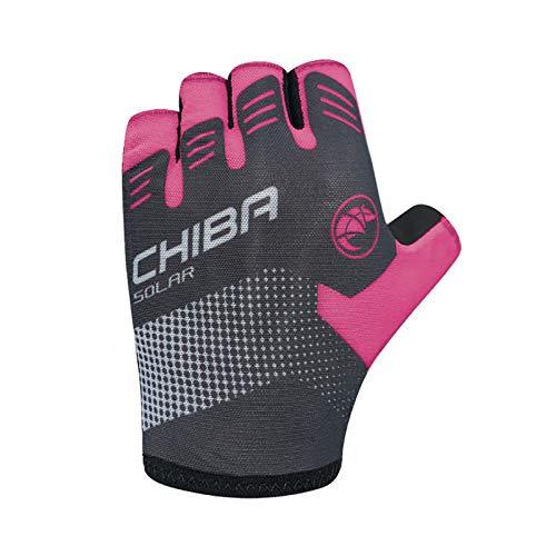 Chiba Solar Fahrrad Handschuhe kurz schwarz/pink 2021: Größe: XS (6)