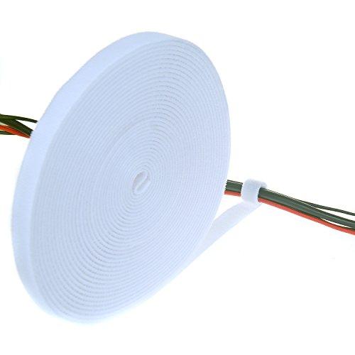 TUKA 10 m x 15mm Organizador de Cables, Cinta de Gancho y...