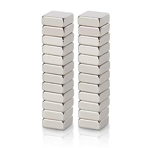 WINTEX 24 imanes para tableros de cristal, tableros magnéticos, neveras, medidas 10 x 10 x 4 mm, con una fuerte adhesión