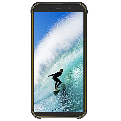 BlackviewBV5500PlusSIMフリースマホ本体防水防塵IP684GスマートフォンAndroid10.04G格安携帯電話キイロ