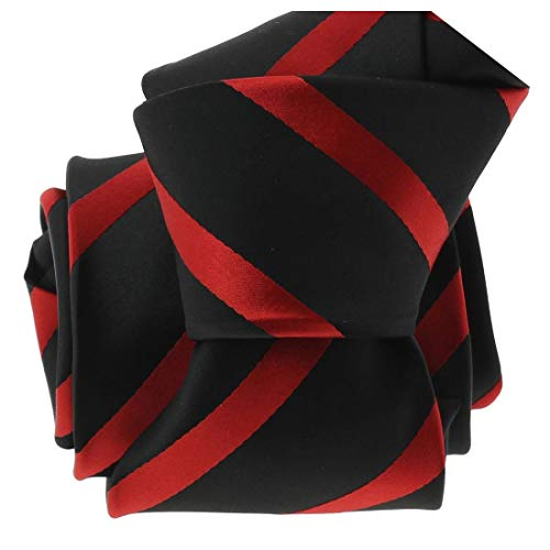 Clj Charles Le Jeune. Cravate. URBANE CLUB, Microfibre. Rouge, Club/rayé.