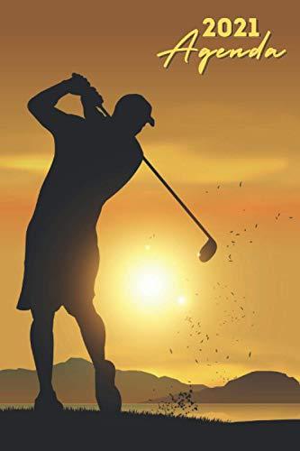 Agenda 2021 Golf: agenda 2021 semana vista - planificador semanal y mensual 2021 A5 - de enero a diciembre 21 - una Semana en dos Páginas - agenda anual 2021 - regalo para golfista mujer hombre
