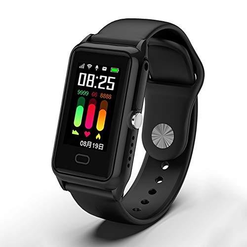 RSGK Intelligentes Armband, GPS + WLAN-Positionierung, Herzfrequenz- und Blutdrucküberwachung, Schrittzählung, SOS-Hilfe-Armband