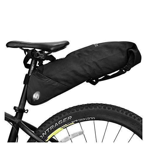 Jybhsh Tija de sillín de la Bicicleta Bolsa de sillín de Almacenamiento de Bicicletas de montaña Bicicleta de Carretera Bolsa Trasera Impermeable Ampliable 8L 10L Accesorios Bici (Color : 8L)