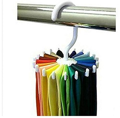 Casecover 360 Degrés De Rotation Twirl Tie Rack Porte-Ceinture 20 Cravate pour Crochets De Suspension Closet Organizer Stockage