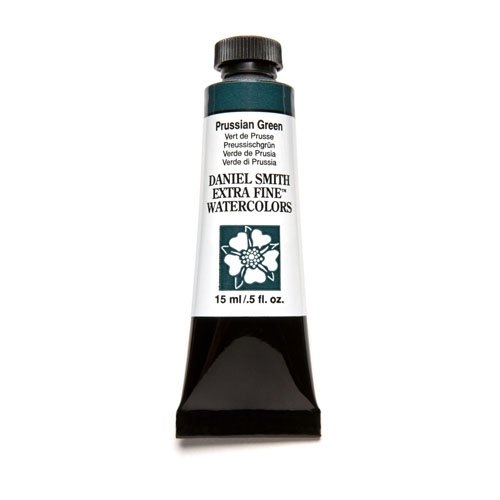 DANIEL SMITH Extra Fine Watercolor 15ml Paint Tube, Prussian Green