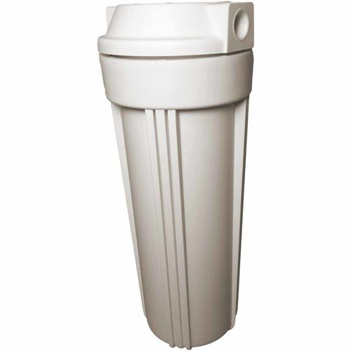 """White filter housing sump for reverse osmosis 10"""" RO canister 1/4"""""""