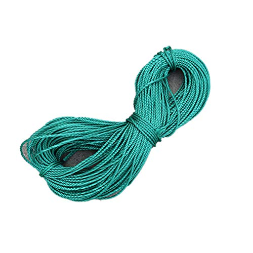 NECZXW1 Polypropylene rope nylon braided rope 100 feet 1/4 inch diameter suitable for mobile, camping, outdoor, mountaineering, gardening, shipyard, clothesline