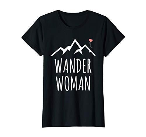 Damen Frauen Wander Woman Outdoor Hobby Geschenk Berge T-Shirt