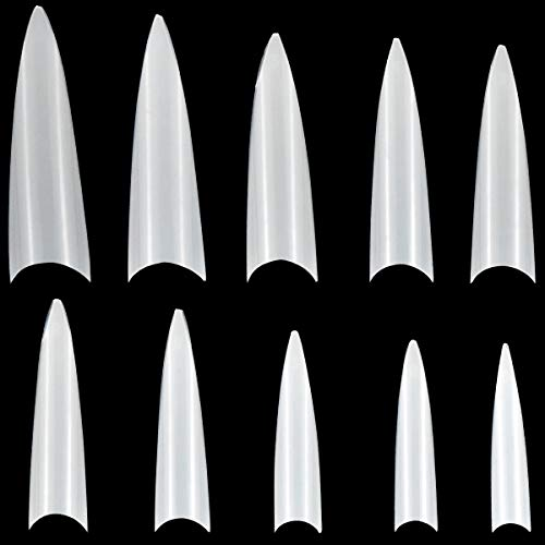 Dokpav nagel tips set, 600 Stücke fake nägel, nageltips für gelnägel, nail tips stiletto, Künstliche Gefälschte Falsche Nägel Kunst Tipps für Frauen Mädchen DIY Maniküre
