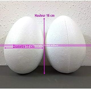 Lealoo Cuore bombato Pieno 3D in polistirolo Spessore 55 mm Dimensione 15 cm