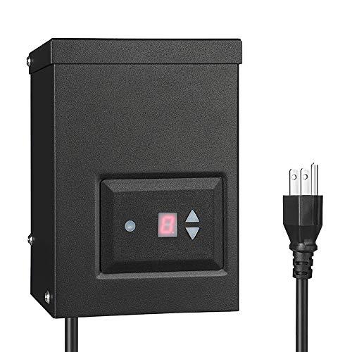 DEWENWILS 45 Watt Outdoor Low Voltage Transformer with Timer and Photocell Sensor, 120V AC to 12V AC, Weatherproof for Halogen & LED Landscape Lighting, Spotlight, Pathway Light, ETL Listed Low-Voltage Transformers