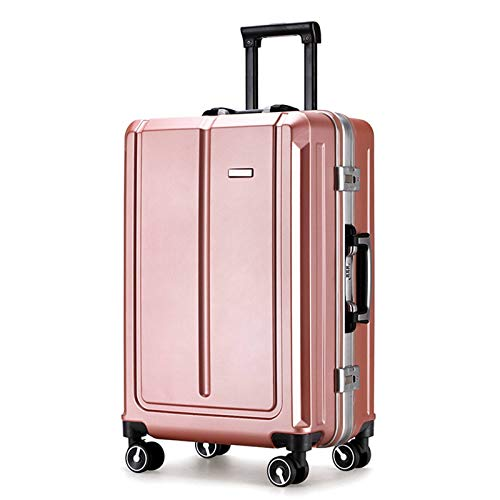 Strong Luggage, Lightweight Durable Waterproof Universal Silent Wheels with TSA Lock Spinner Suitcase Suitable for Travel Vacation Storage-35x22x50cm-Rose Gold