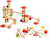 Playtastic Murmelbahn Holz: Kugelbahn-Bausatz aus Holz, 50-teilig (Spielzeuge)