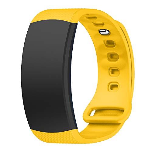 Unbekannt FGH Herren-Armbanduhr aus Silikon für Samsung Gear Fit2 SM-R360, Handgelenk-Armbandgröße: 150–213 mm (Blau)