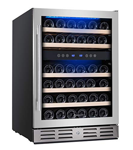 Kalamera 46 Bottle Dual Zone 24'' Built-in or Freestanding wine...